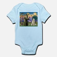 St Francis / Great Pyrenees Infant Bodysuit