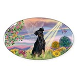 Cloud Angel / Miniature Pinsc Sticker (Oval 50 pk)