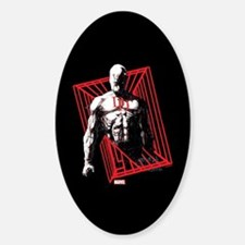 Daredevil Bars Sticker (Oval)