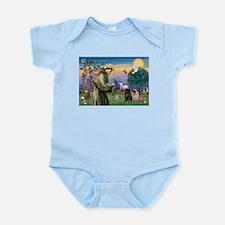 St. Francis & Pug Pair Infant Bodysuit