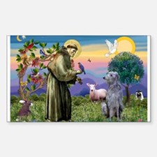 St Francis Deerhound Sticker (Rectangle)