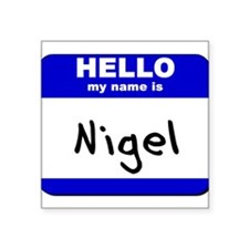 "Cute Nigel Square Sticker 3"" x 3"""