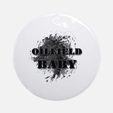 Oilfield Oil Splash Baby Round Ornament
