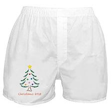 Holiday Christmas Tree 2015 Boxer Shorts