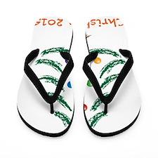 Holiday Christmas Tree 2015 Flip Flops