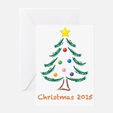Holiday Christmas Tree 2015 Greeting Card