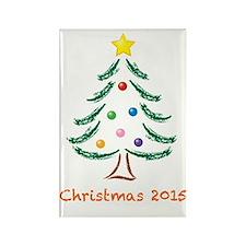 Holiday Christmas Tree 2015 Rectangle Magnet