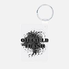 Oilfield Oil Splash Trash Keychains