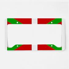 Basque Flag License Plate Holder