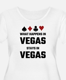 What Happens In Vegas Stays In V Plus Size T-Shirt