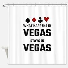 What Happens In Vegas Stays In Vega Shower Curtain