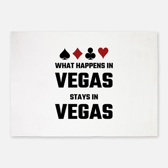 What Happens In Vegas Stays In Vega 5'x7'Area Rug
