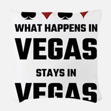What Happens In Vegas Stays In Woven Throw Pillow