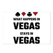 What Happens In Vegas Sta Postcards (Package of 8)