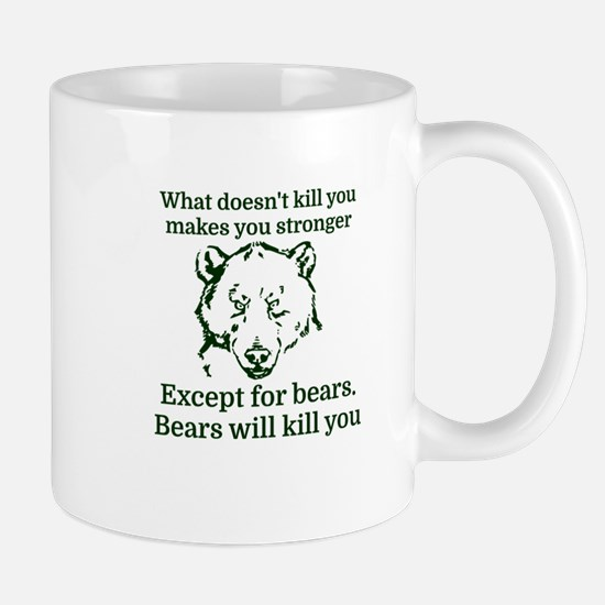 What doesn't kill you make you stronger Mugs