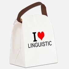 I Love Linguistics Canvas Lunch Bag