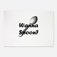 Wanna Spoon? 5'x7'Area Rug