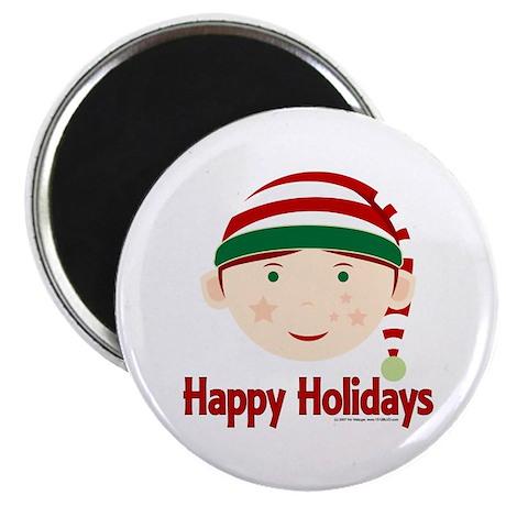 "Happy Holidays Elf 2.25"" Magnet (100 pack)"