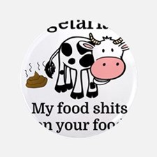 Vegetarians My Food Shits On Your Food Button