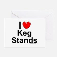 Keg Stands Greeting Card