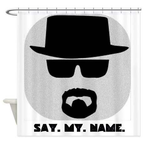 say my name shower curtain by literatephoenix. Black Bedroom Furniture Sets. Home Design Ideas