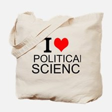 I Love Political Science Tote Bag