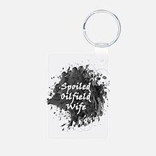Spoiled Oilfield Wife Oil Splash Keychains