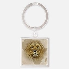 Cute African cats Square Keychain