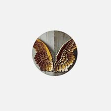 Gold Angel Wings W Mini Button