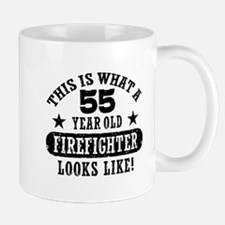 55 Year Old Firefighter Mug
