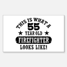55 Year Old Firefighter Decal