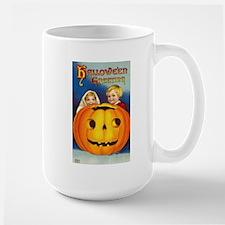 Vintage Halloween Card 7 Large Mug
