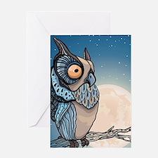Night Owl Greeting Cards
