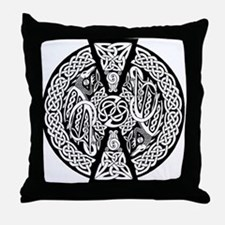 Celtic Knotwork Dragons Throw Pillow