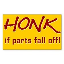Honk Rectangle Decal