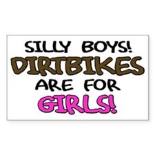 Silly Boys Dirtbikes Rectangle Decal