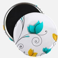 Elegant Flowers Magnets