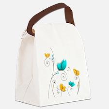 Elegant Flowers Canvas Lunch Bag