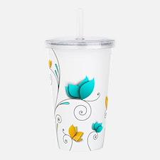 Elegant Flowers Acrylic Double-wall Tumbler