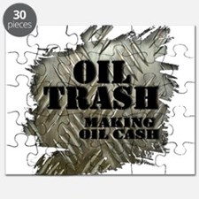 Oilfield Trash Making Oil Cash Corrugated Metal Pu