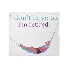 Unique Retire Throw Blanket