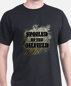 Spoiled By The Oilfield Corrugated Metal T-Shirt