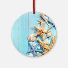 Seashells Round Ornament