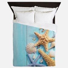 Seashells Queen Duvet