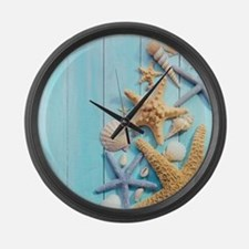 Seashells Large Wall Clock