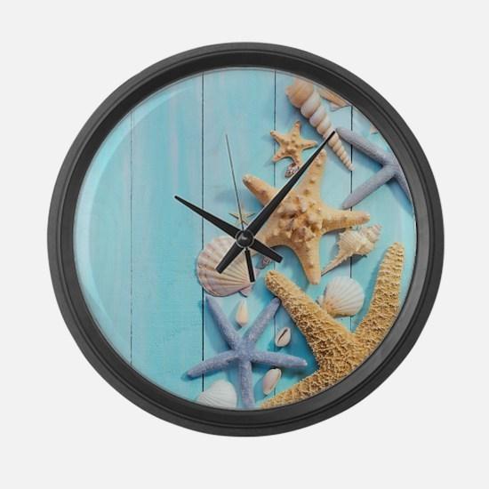 Seashells Large Wall Clock