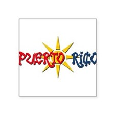 "Funny Boricua Square Sticker 3"" x 3"""