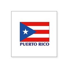 "Cute Boricua Square Sticker 3"" x 3"""