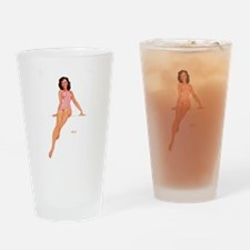 Pin Up: Lingerie ! Drinking Glass