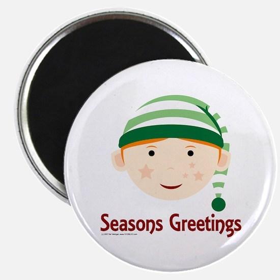 Seasons Greetings Elf Magnet
